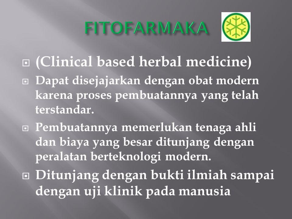 FITOFARMAKA (Clinical based herbal medicine)