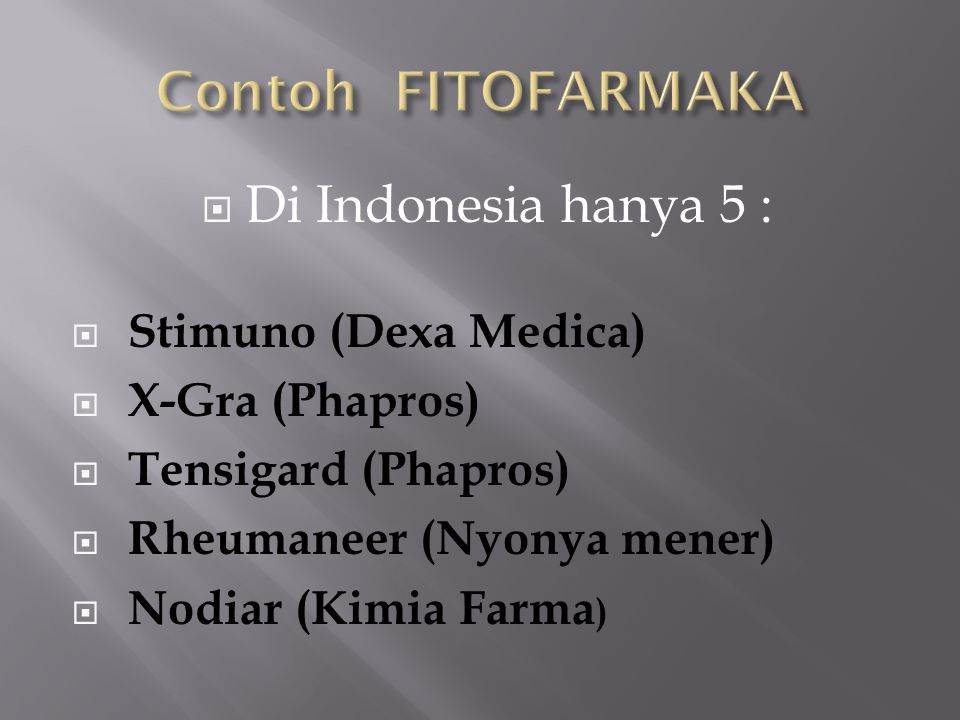 Contoh FITOFARMAKA Di Indonesia hanya 5 : Stimuno (Dexa Medica)
