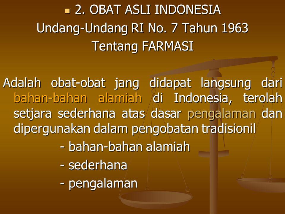 Undang-Undang RI No. 7 Tahun 1963
