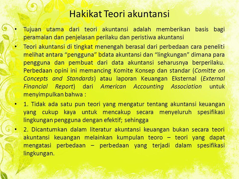 Hakikat Teori akuntansi