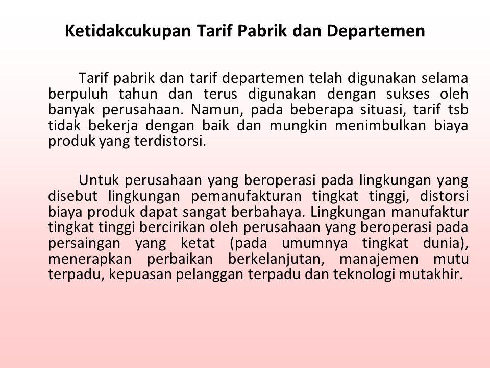 Ketidakcukupan Tarif Pabrik dan Departemen