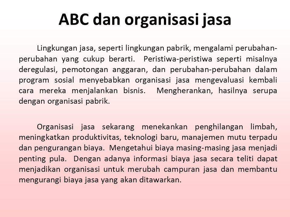 ABC dan organisasi jasa