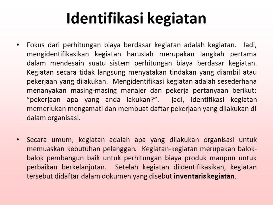 Identifikasi kegiatan