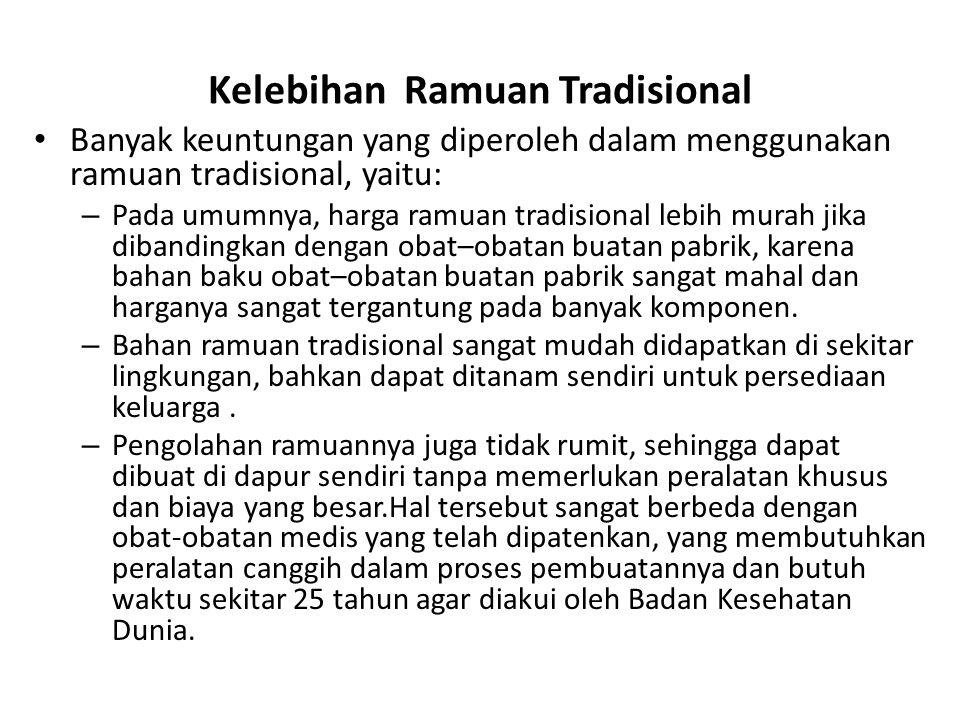 Kelebihan Ramuan Tradisional