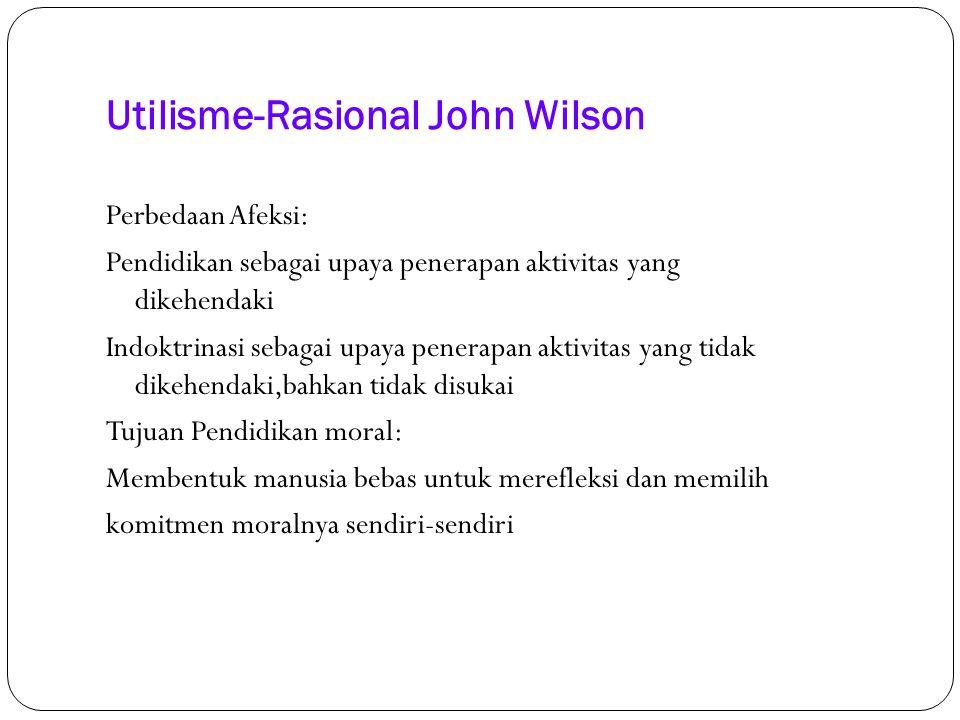 Utilisme-Rasional John Wilson