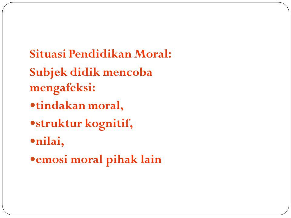 Situasi Pendidikan Moral: