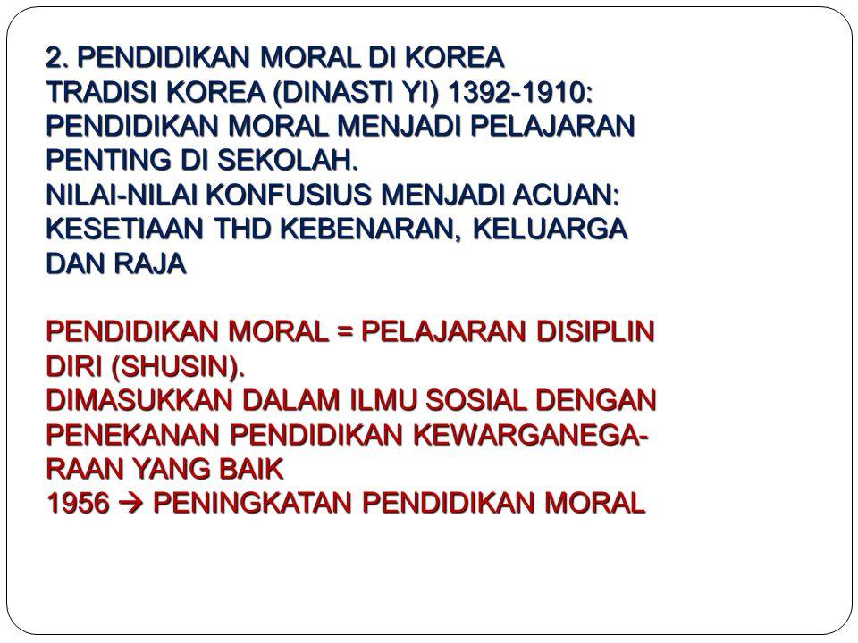 2. PENDIDIKAN MORAL DI KOREA