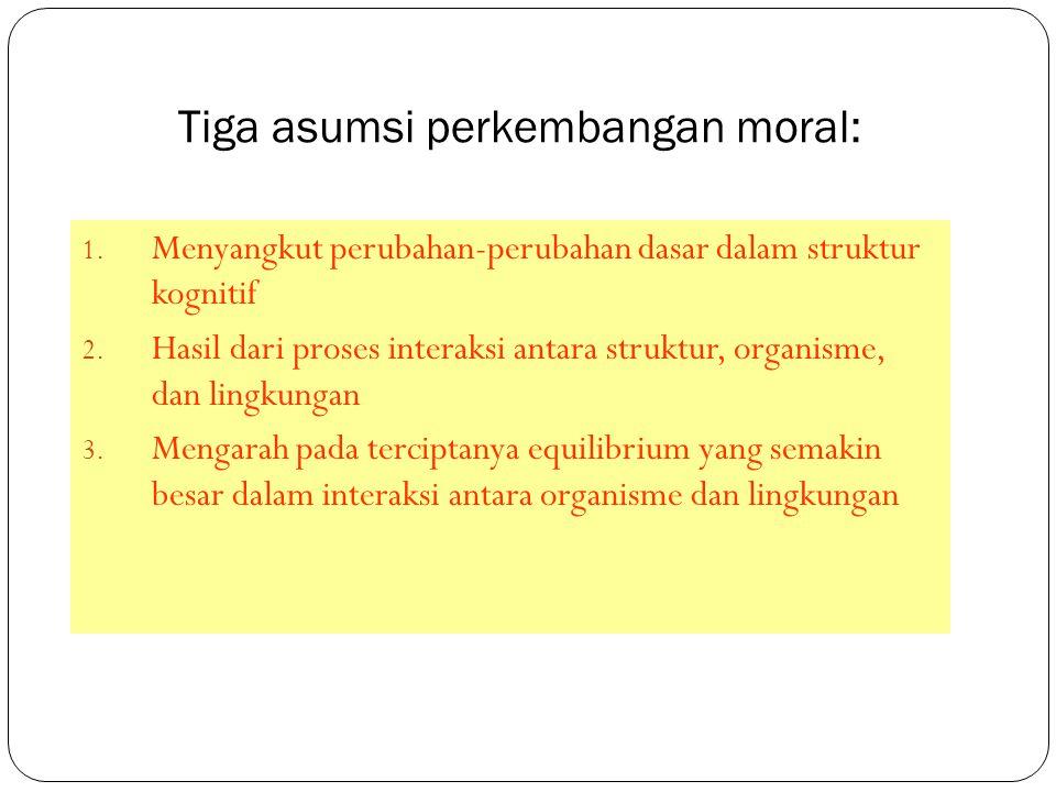 Tiga asumsi perkembangan moral: