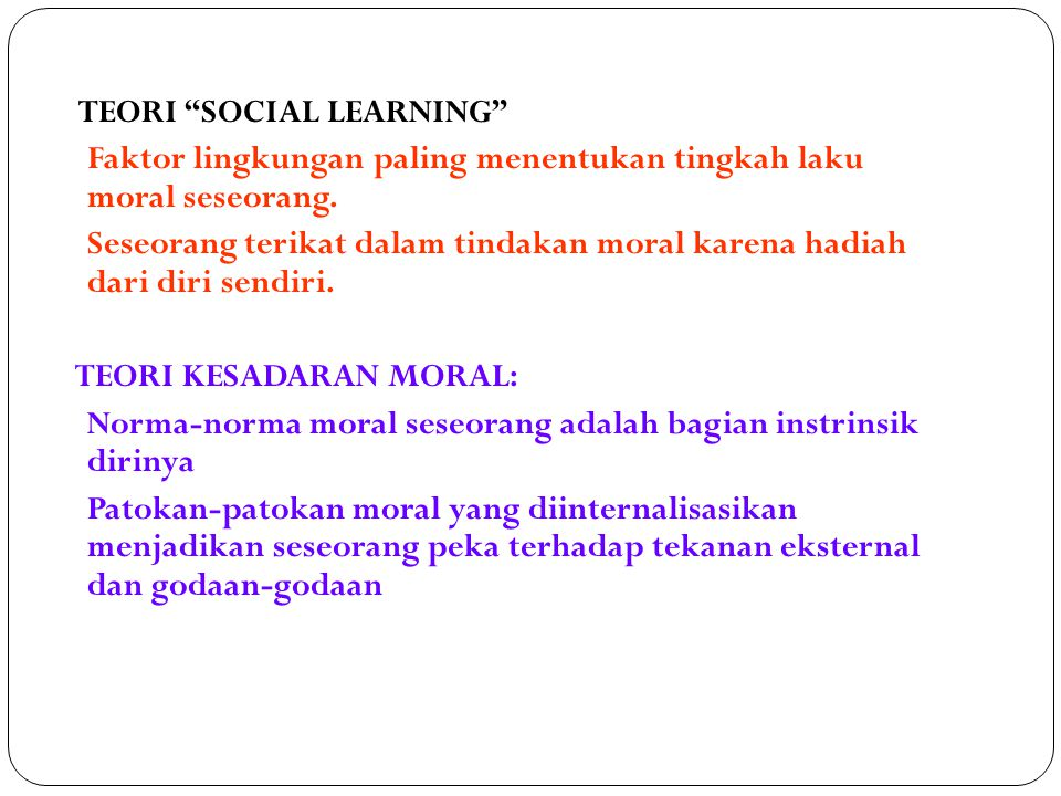 TEORI SOCIAL LEARNING
