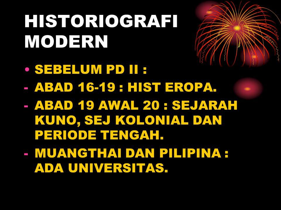 HISTORIOGRAFI MODERN SEBELUM PD II : ABAD 16-19 : HIST EROPA.
