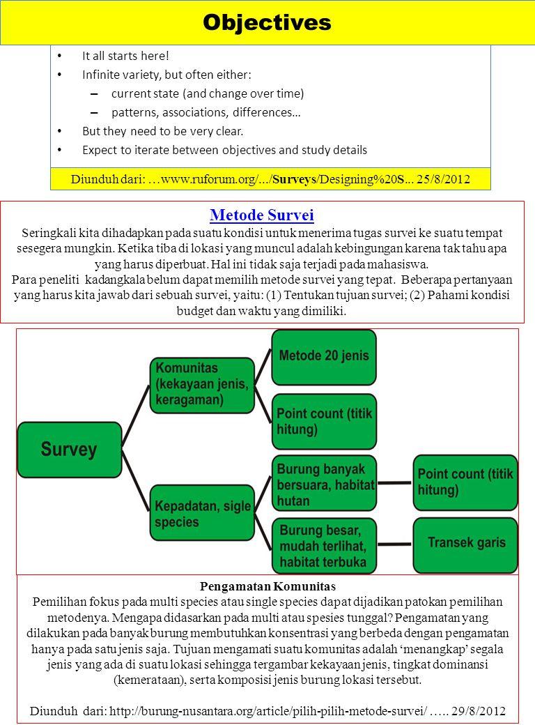 Diunduh dari: …www.ruforum.org/.../Surveys/Designing%20S... 25/8/2012
