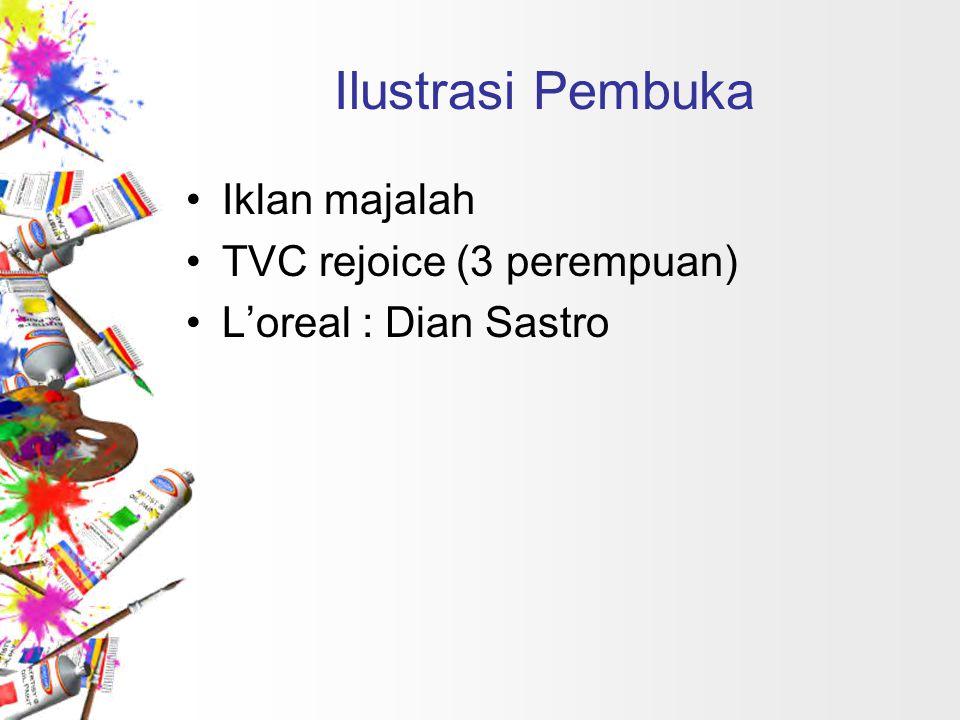 Ilustrasi Pembuka Iklan majalah TVC rejoice (3 perempuan)