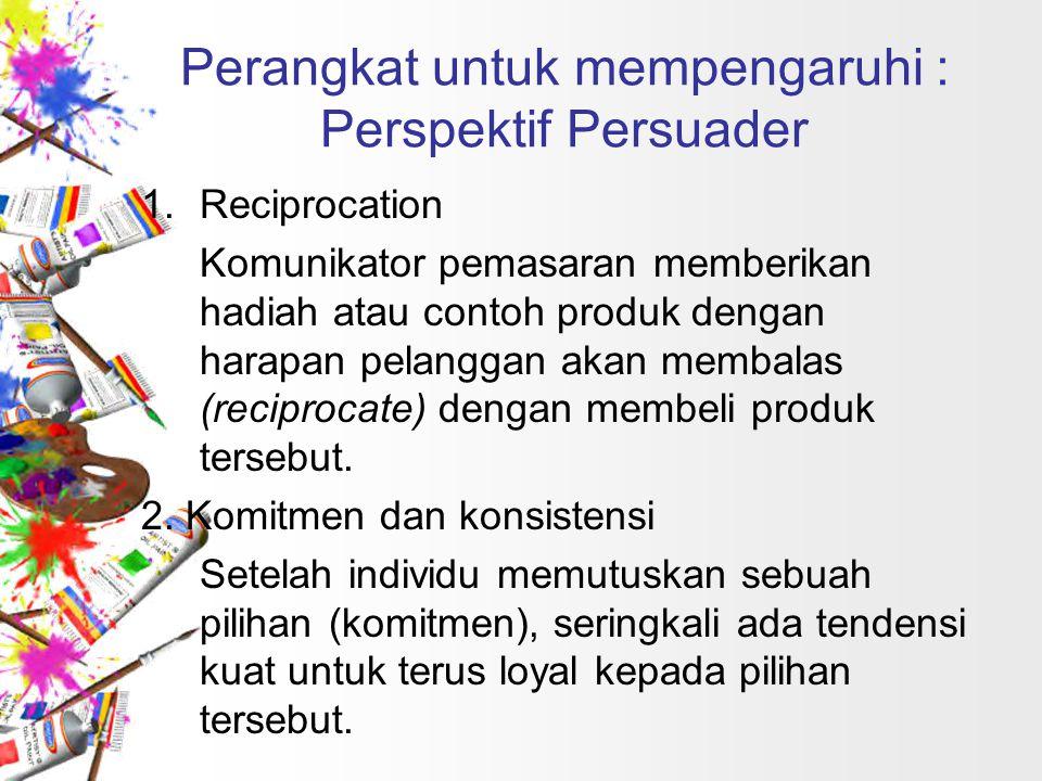 Perangkat untuk mempengaruhi : Perspektif Persuader