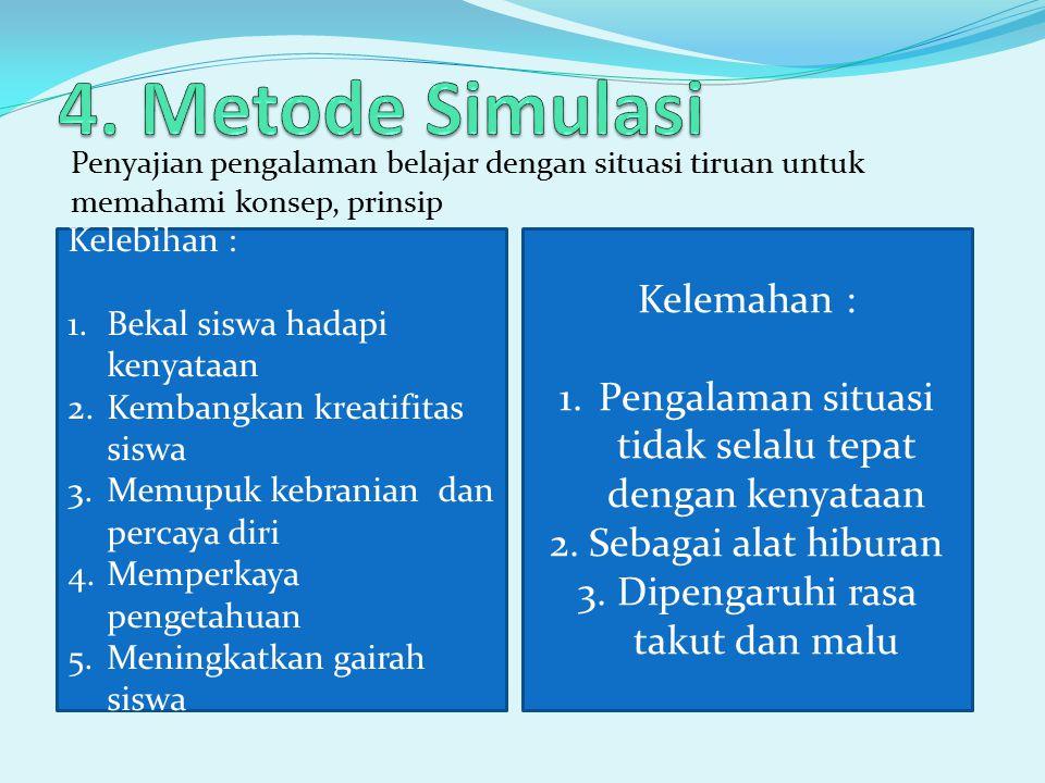4. Metode Simulasi Kelemahan :