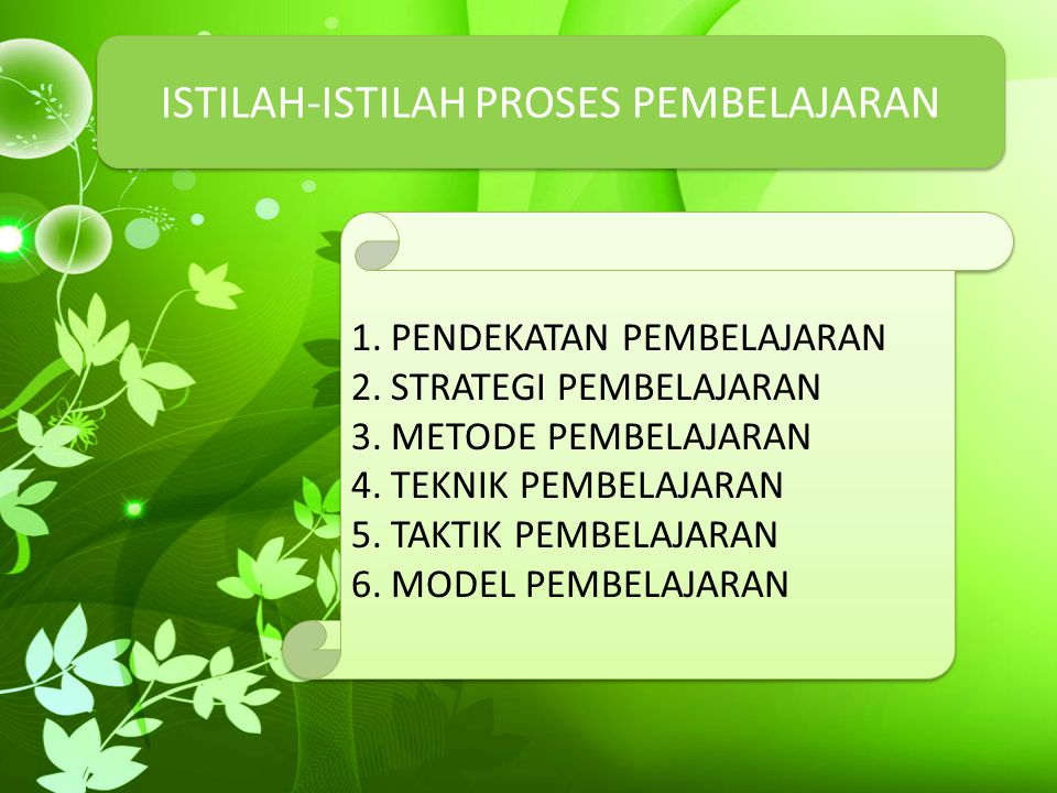 ISTILAH-ISTILAH PROSES PEMBELAJARAN