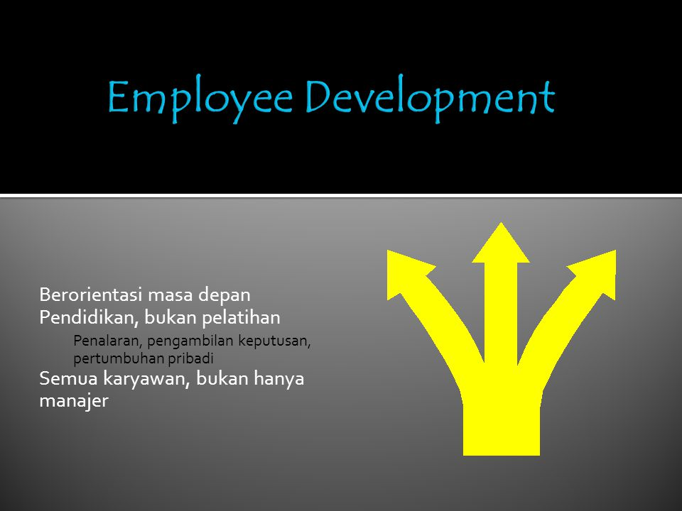 Employee Development Berorientasi masa depan
