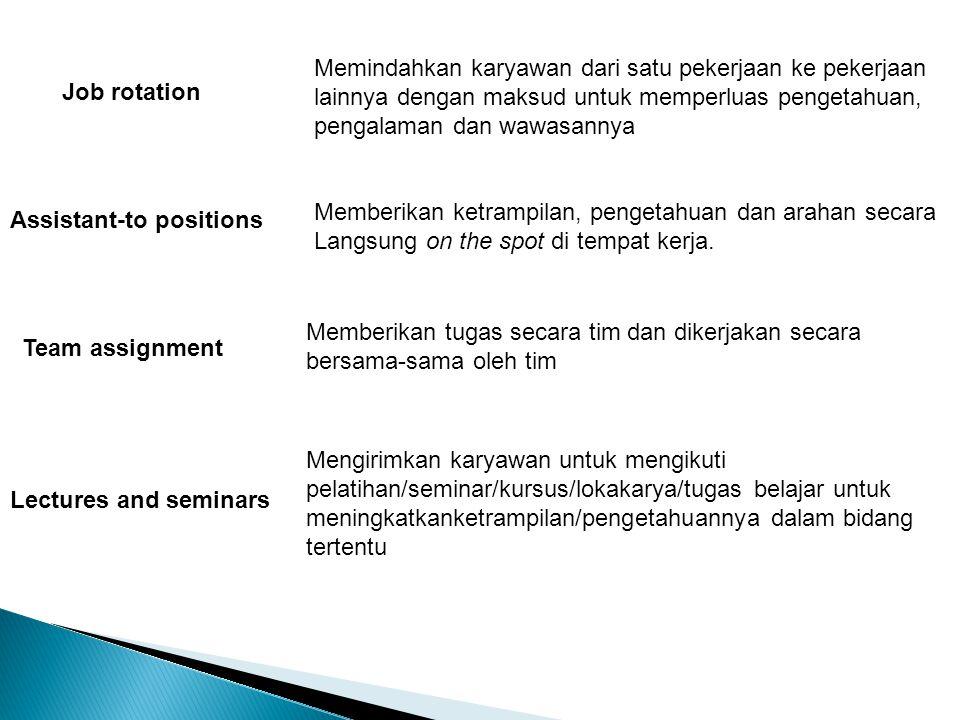 Memindahkan karyawan dari satu pekerjaan ke pekerjaan lainnya dengan maksud untuk memperluas pengetahuan, pengalaman dan wawasannya