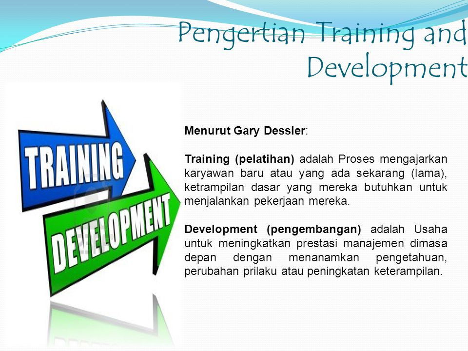 Pengertian Training and Development