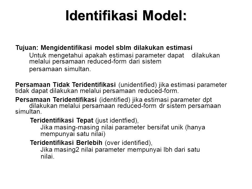Identifikasi Model: