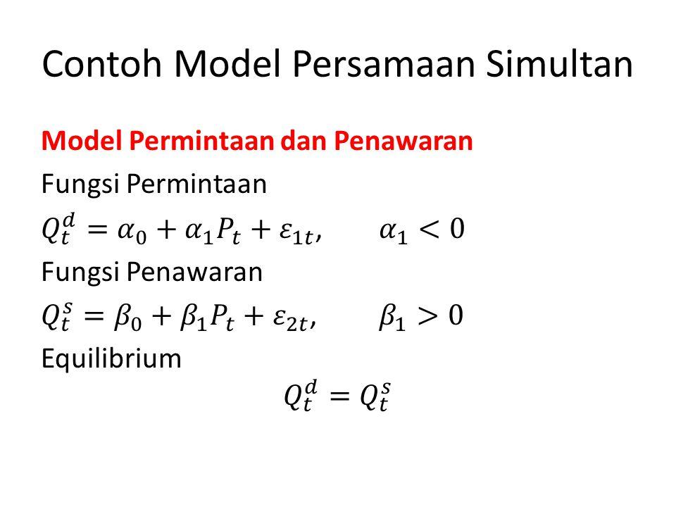 Contoh Model Persamaan Simultan