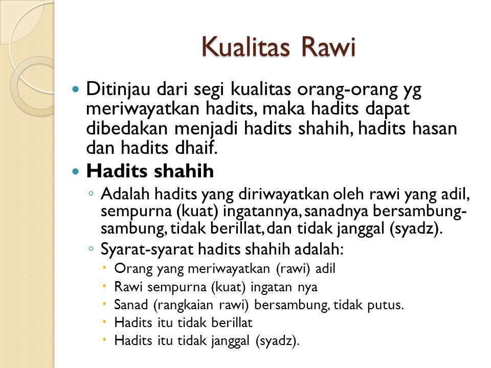 Kualitas Rawi