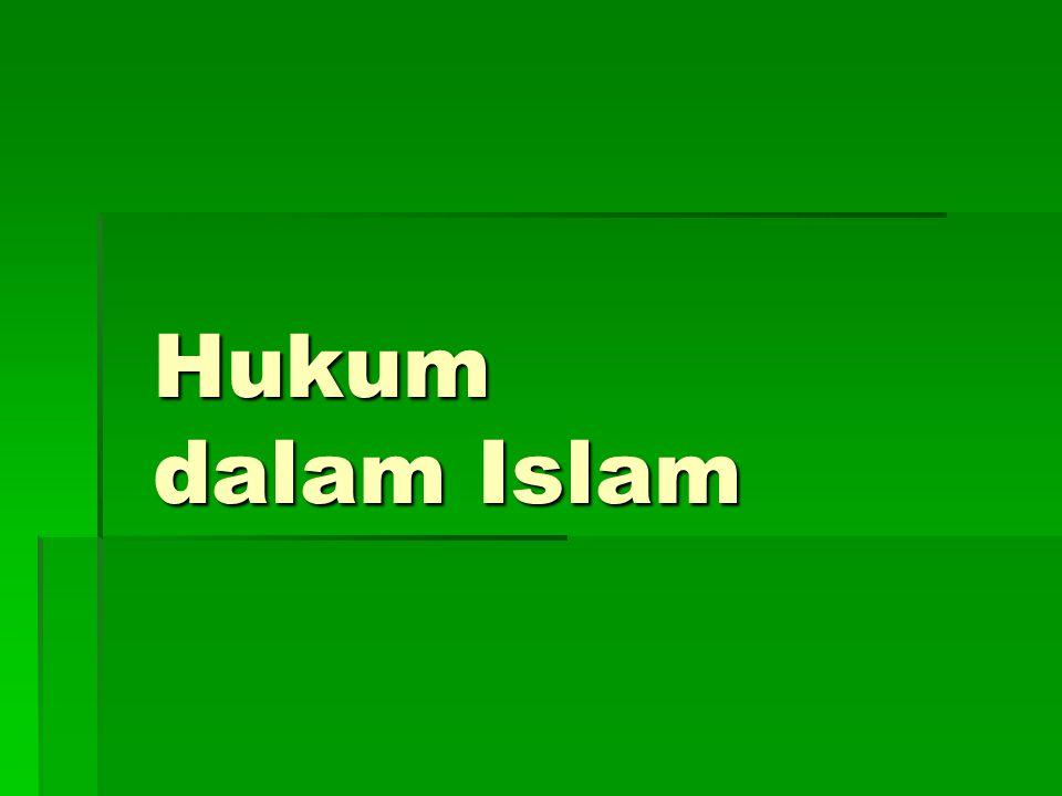 Hukum dalam Islam