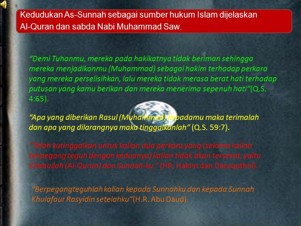 Kedudukan As-Sunnah sebagai sumber hukum Islam dijelaskan