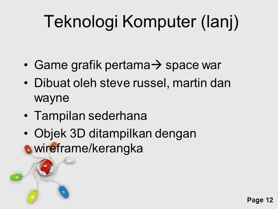 Teknologi Komputer (lanj)