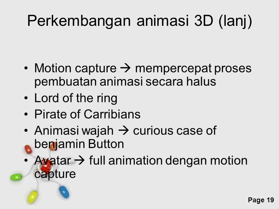 Perkembangan animasi 3D (lanj)