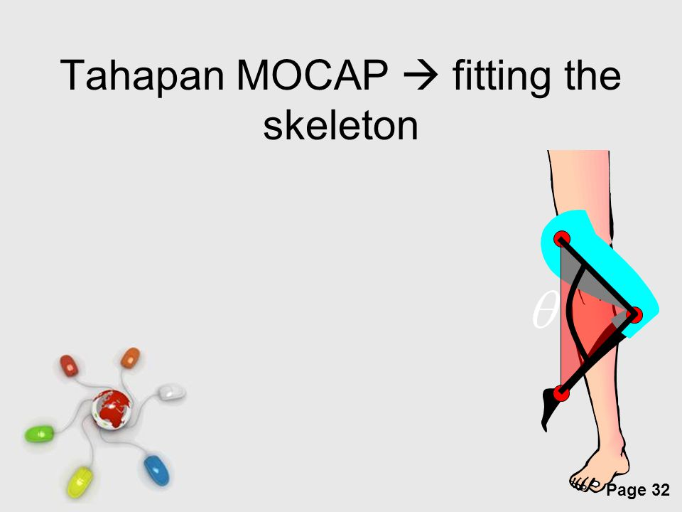 Tahapan MOCAP  fitting the skeleton