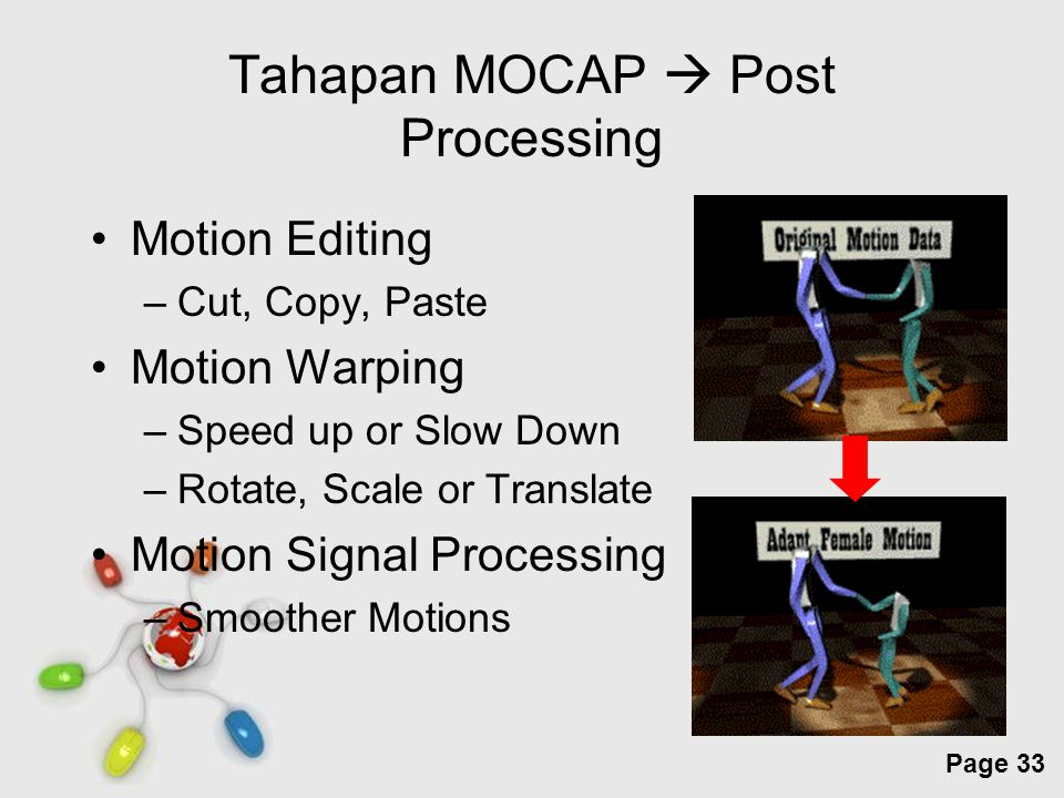 Tahapan MOCAP  Post Processing