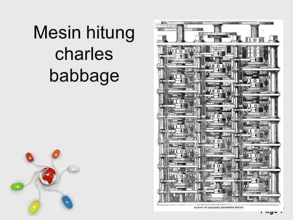 Mesin hitung charles babbage