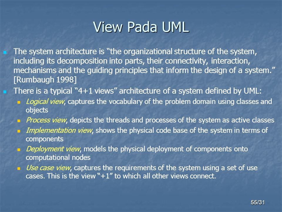 View Pada UML