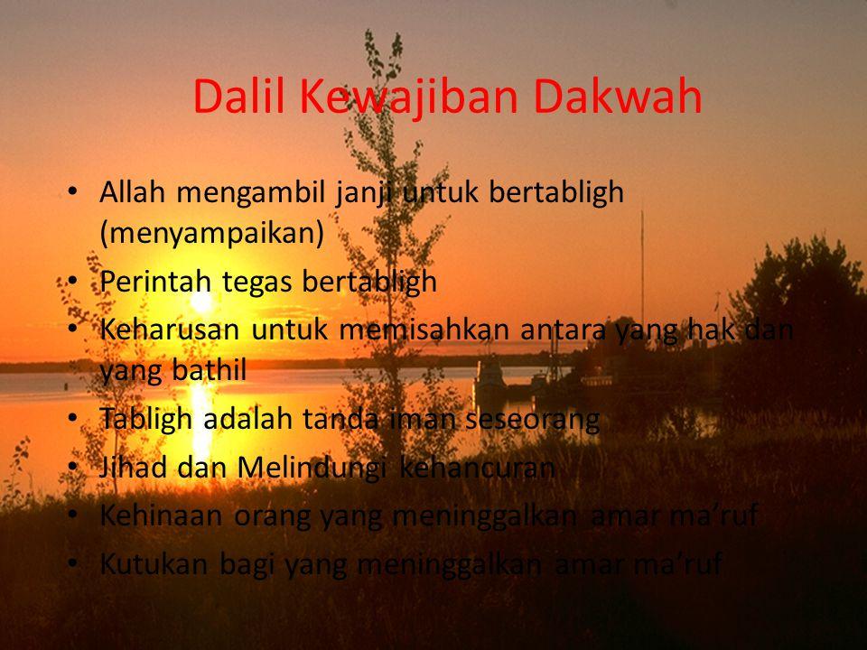 Dalil Kewajiban Dakwah