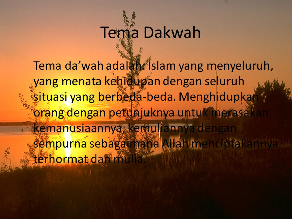 Tema Dakwah