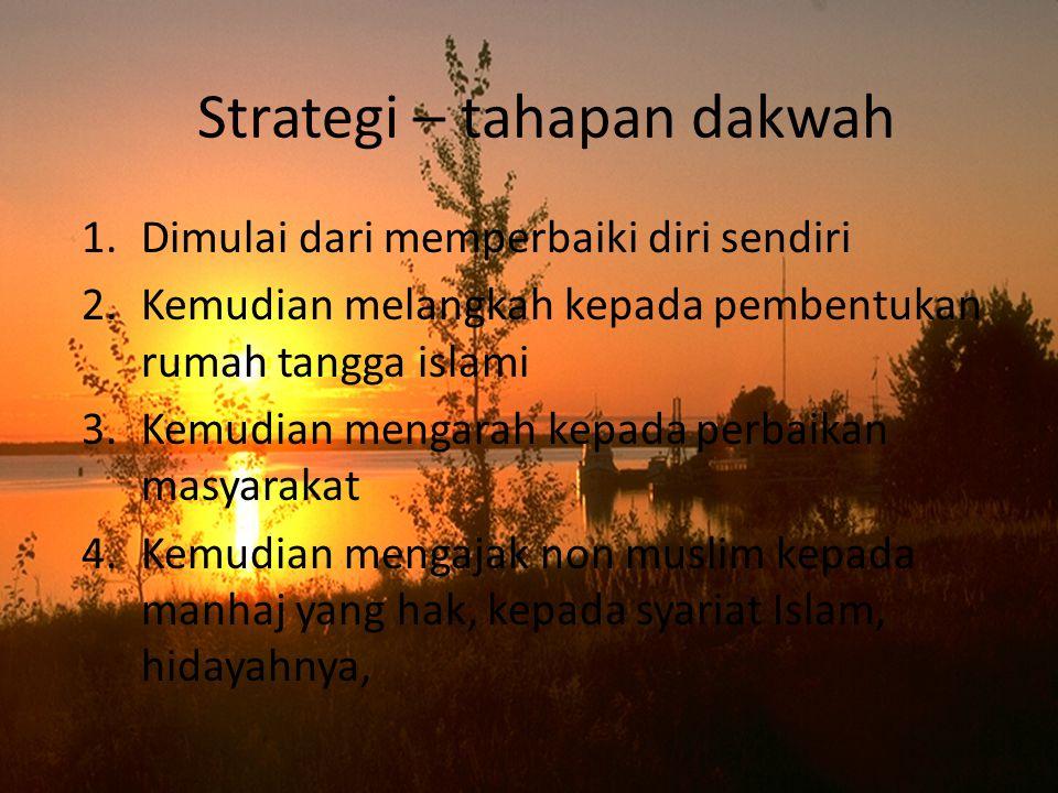 Strategi – tahapan dakwah