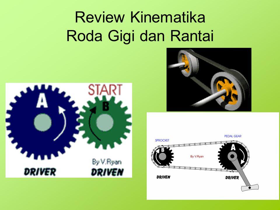 Review Kinematika Roda Gigi dan Rantai