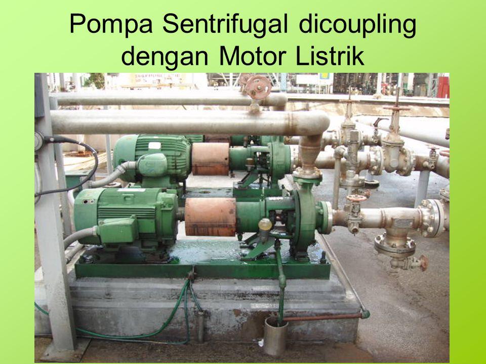 Pompa Sentrifugal dicoupling dengan Motor Listrik