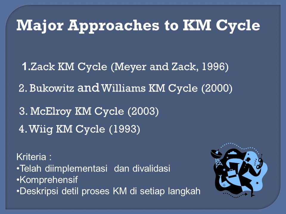 Major Approaches to KM Cycle