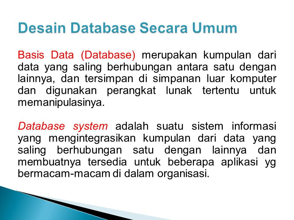 Desain Database Secara Umum