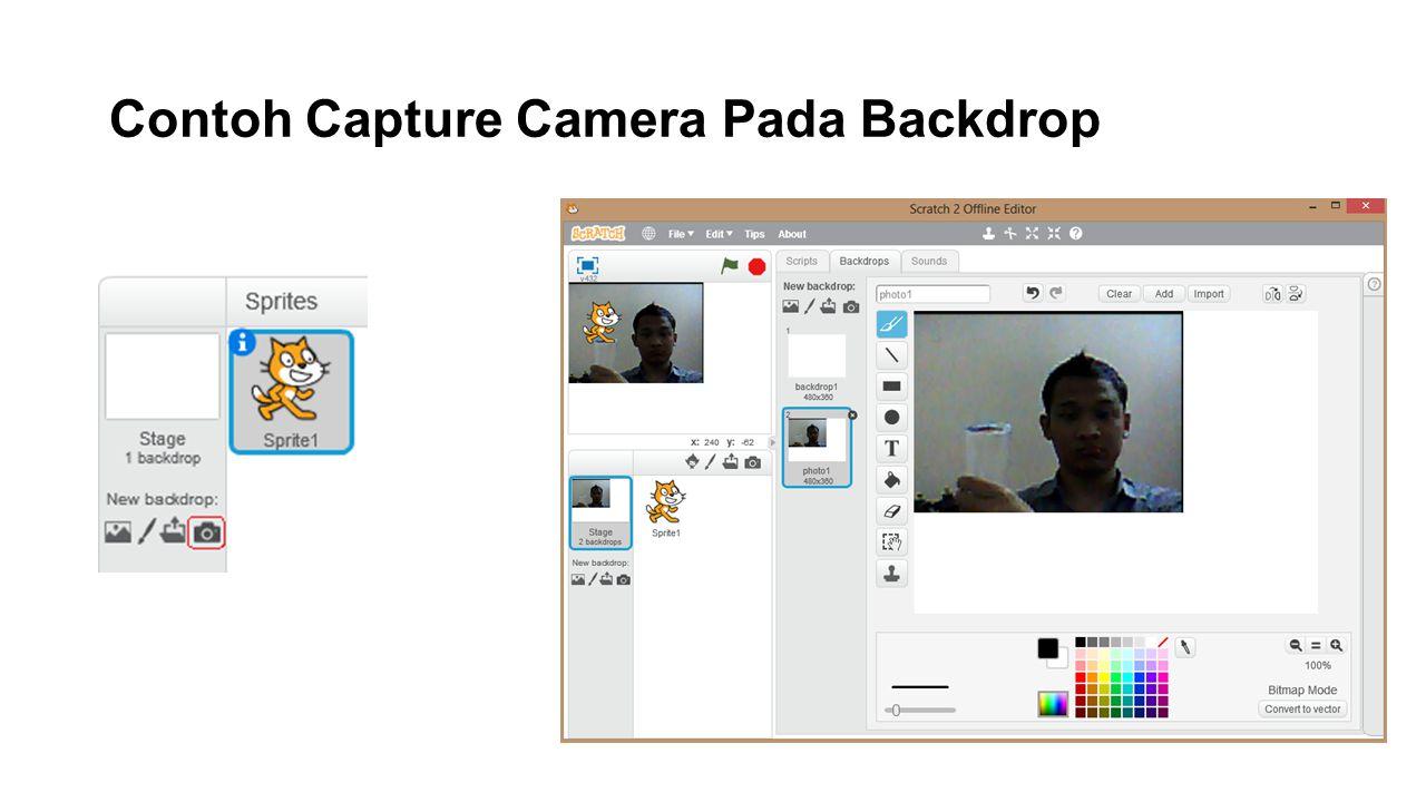 Contoh Capture Camera Pada Backdrop