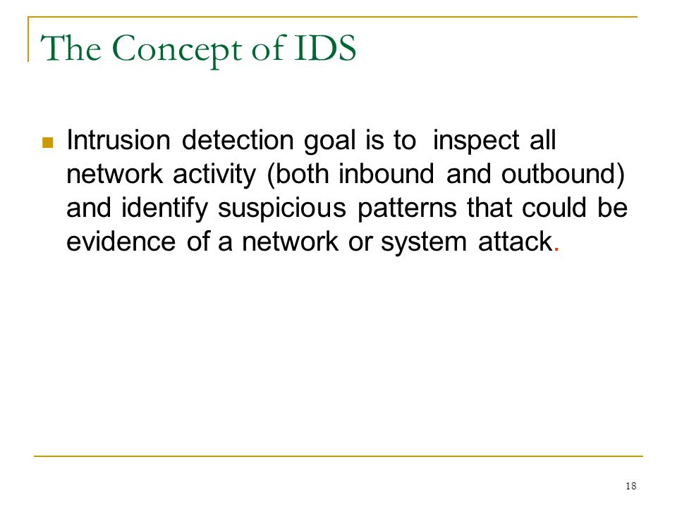 The Concept of IDS