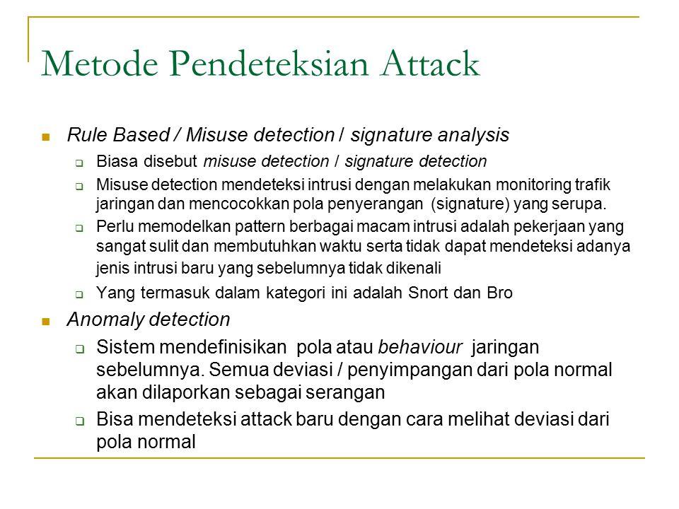 Metode Pendeteksian Attack