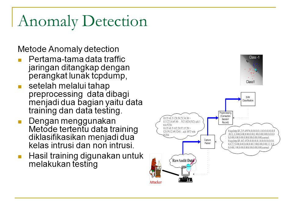 Anomaly Detection Metode Anomaly detection