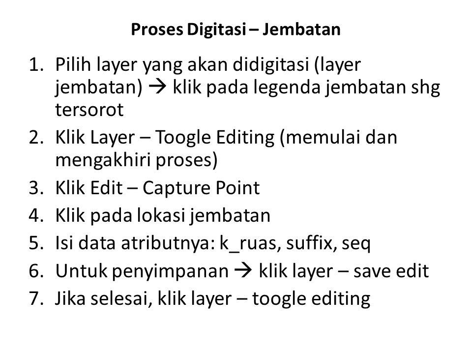 Proses Digitasi – Jembatan