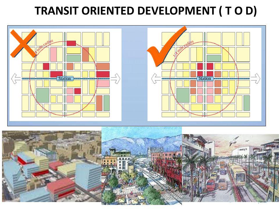 TRANSIT ORIENTED DEVELOPMENT ( T O D)