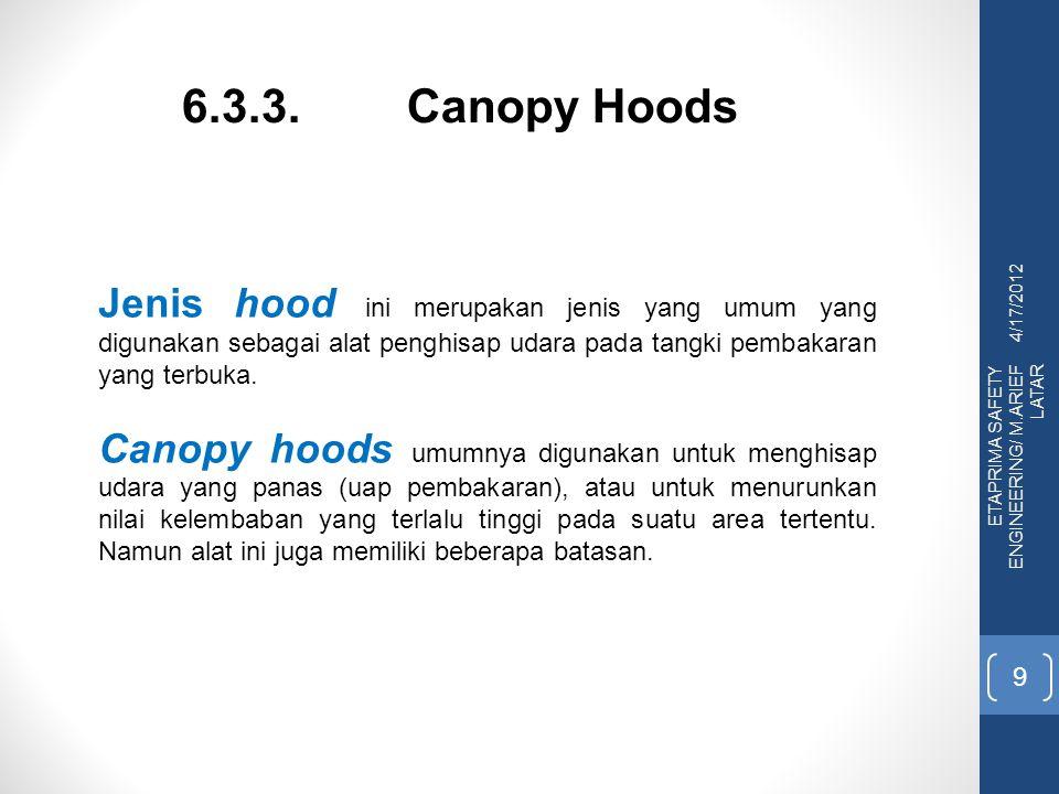 6.3.3. Canopy Hoods 4/17/2012.