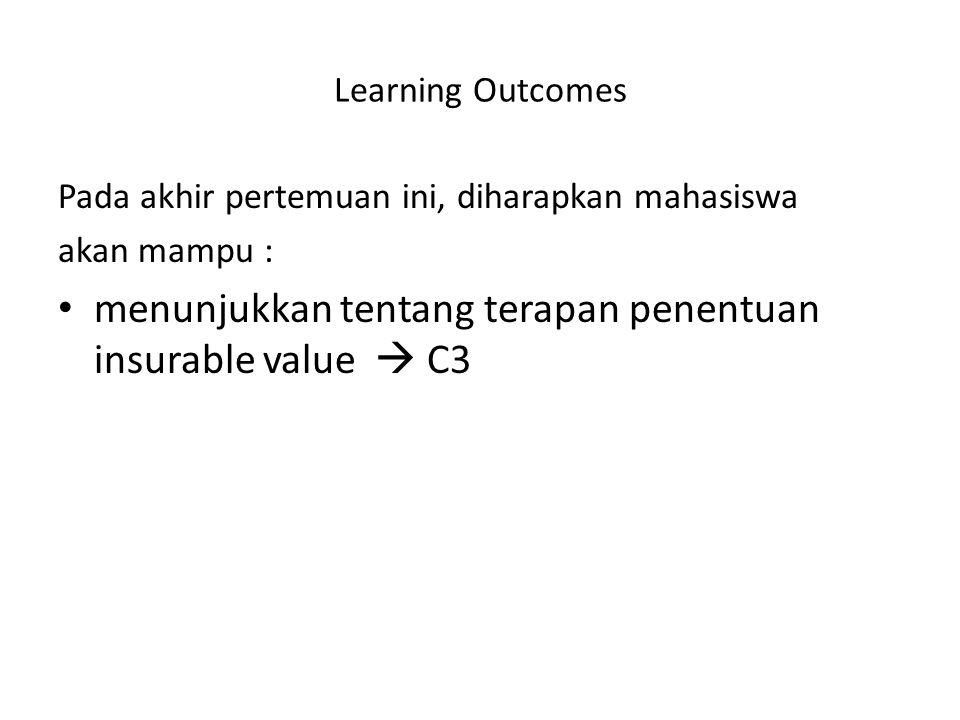 menunjukkan tentang terapan penentuan insurable value  C3