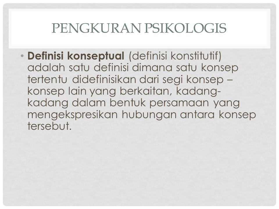 PENGKURAN PSIKOLOGIS