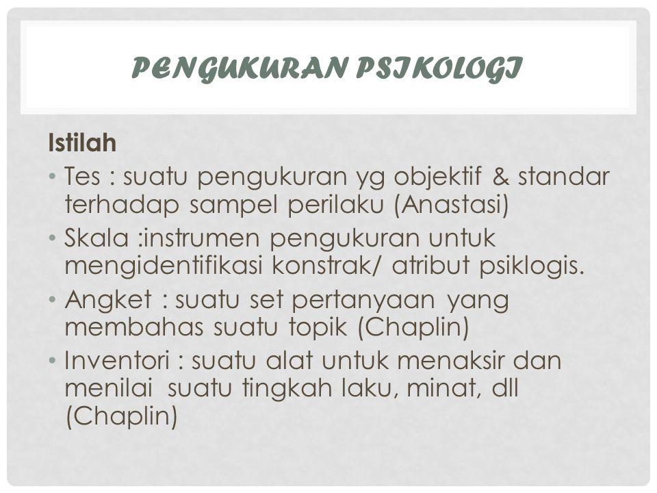 Pengukuran Psikologi Istilah